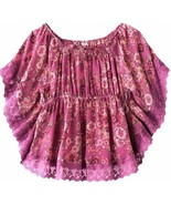 Candies Girls 7-16 Floral Pink Blouse Cami Top Set  L 14 XL 16 - $19.99