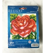 """Janlynn Designs For The Needle Red Rose Needlepoint Kit #023-0262 - 5"""" x 5"""" - $7.55"""