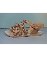 Chanel Gold 37 Metallic Fantasy Leather Gold Woven Chain Sandals Flats T... - $865.53