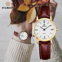 STARKING 6MM Slim Sapphire Women Watch Stainless Steel Japan Quartz Movt... - $65.99+