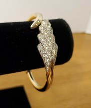 Vintage Trifari Crystal Feather Bracelet - $29.95