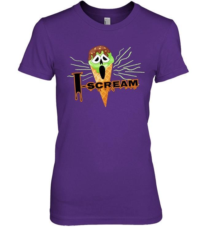 Funny Halloween Scary I Scream Trick or Treat Tshirt