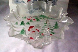 "Mikasa Celebrations Holiday Landscape #SA844/52 Decorative Bowl 9 1/2"" NIB - $9.69"