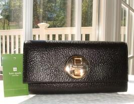 Kate Spade Cyndy Bexley Shiny Black Leather Wallet Nwt $225+ - $178.00
