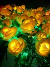 "27.5"" yellow LED rose flowers Light wedding holiday party birthday new year use - $197.99"