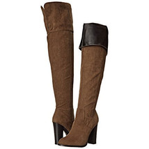 Qupid Womens Reborn-3 Thigh-High Round Toe Over-The-Knee Khaki Slouch Boots - $29.99