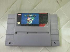 Super Mario World Super Nintendo, 1991 SNES Video Game Cartridge Only - $13.22