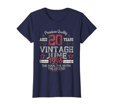 Uncle Shirts -   Vintage Legends Born In JUNE 1998 Aged 20 Years Old Being Wowen image 3