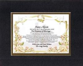 Personalized Touching and Heartfelt Poem for Wedding - The Promises of Marriage  - $22.72