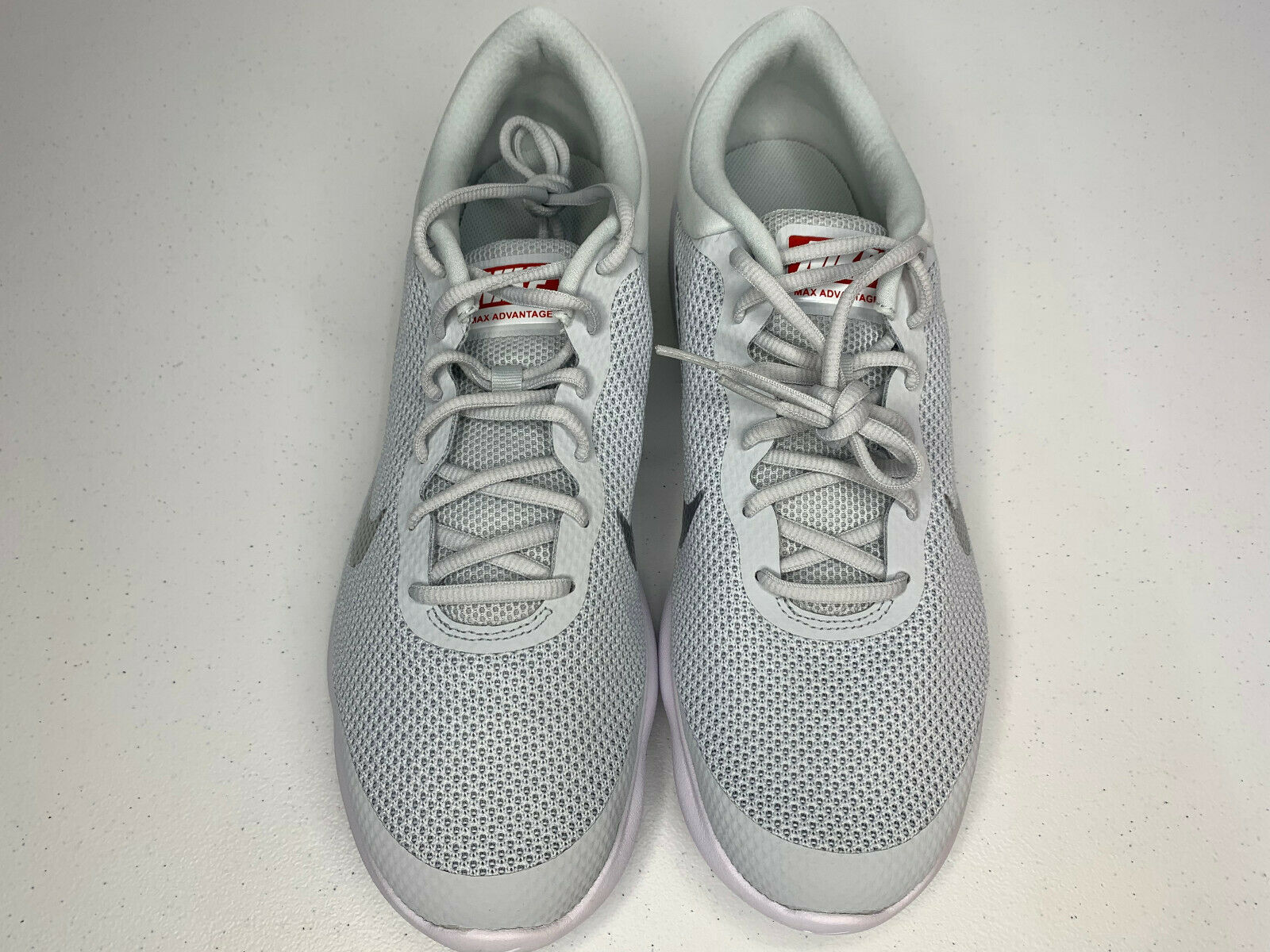 NIB SIZE 15 MEN Nike Air Max Advantage Running Shoes Platinum White Trainer NEW  image 2
