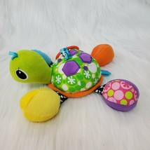 """9"""" Infantino Topsy Turtle Pal Rattle Infant Crinkle Mirror Activity Toy ... - $9.97"""