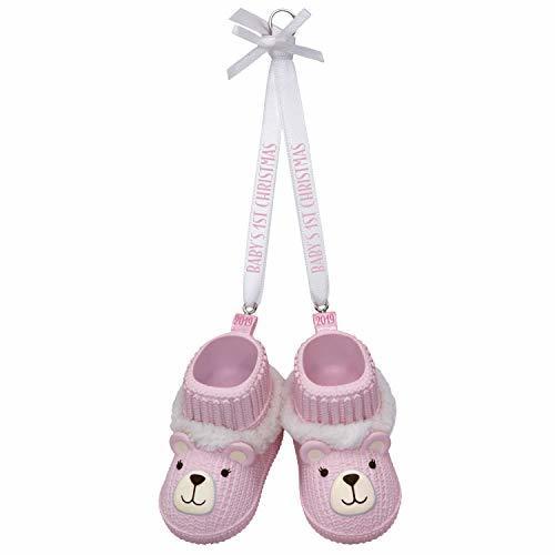 Hallmark Keepsake Ornament 2019 Year Dated Baby Girl's First Christmas Pink Tedd - $6.93
