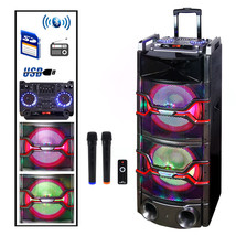 Befree Sound Dual 12 Inch Subwoofer Bluetooth Portable Party Speaker wit... - $158.57
