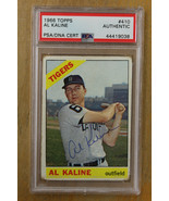 1966 Topps Signed Al Kaline PSA/DNA Authentic Auto #410 Tigers  - $137.61