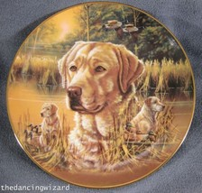 Devoted Partner Collector Plate Study Of A Champion Bruce Langton Dogs P... - $19.99