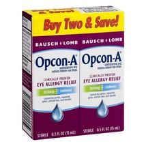 Bausch & Lomb Opcon-A Eye Drops, 0.5 fl oz, Twin Pack - $14.44