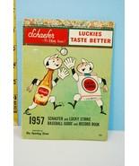 1957 Schaefer & Lucky Strike Baseball Guide & R... - $17.60