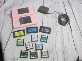 Nintendo DS  Pink with a Lot of 11 Games + Charger and stylus - $74.99