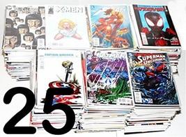 HUGE COMIC BOOK LOT 25 MARVEL DC INDY SUPERMAN BATMAN X-MEN NO DUPLICATE... - $15.16
