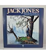 "JACK JONES ""Nobody Does it Better"" MGM 12"" Vinyl LP-33 Pop Album Stereo ... - $15.00"