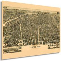 1889 Denver Colorado Map Poster - Vintage Map of Denver Colorado Wall Ar... - $34.99+
