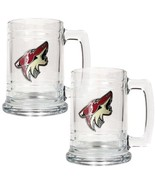 NHL Phoenix Coyotes Two Piece 15-Ounce Glass Tankard Set- Primary Logo - $26.95
