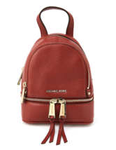 MICHAEL KORS Rhea Zip Studded Leather Backpack for Women with Free Gift - $240.00