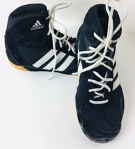 Adidas Pretereo Boys Wrestling Shoes US 3 Lace Up APE 779 Black Vintage - $46.52