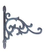 Decorative Plant Hanger Cast Iron Flower Basket Hook - $16.82