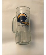 Vtg NFL Chargers Glass Mug/Beer Stein - $20.00