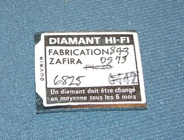 843-DS73 PHONOGRAPH ZAFIRA NEEDLE STYLUS for TELEFUNKEN A25/2 A23/2 T-23 image 2