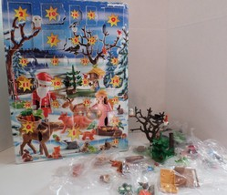 Playmobil 4166 Christmas Advent Calendar COMPLETE but Opened Forest Frie... - $30.00