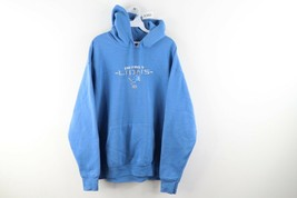 Vintage NFL Mens XL Detroit Lions Football Spell Out Faded Hoodie Sweatshirt - $59.35