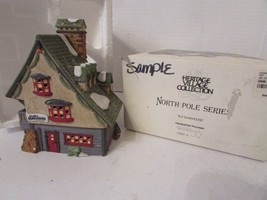DEPT 56 56014 ELF BUNKHOUSE NORTH POLE SERIES BUILDING  WITH CORD D14 - $22.49