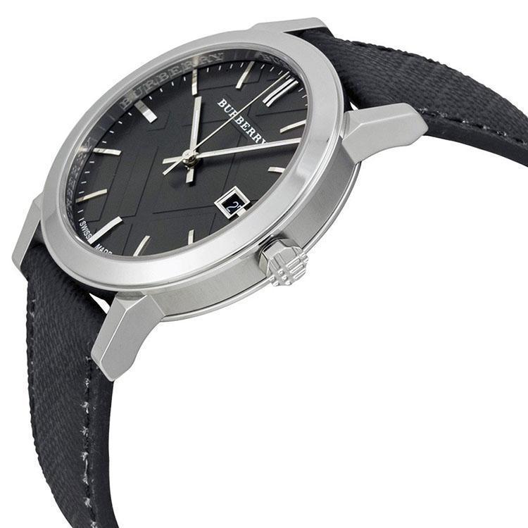 Burberry Men's Watch BU9030 Grey Dial Black Polyvinyl Strap image 2