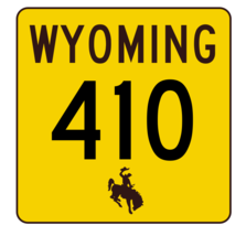 Wyoming Highway 410 Sticker R3535 Highway Sign - $1.45+