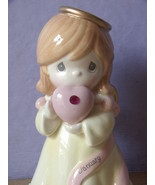 Precious Moments January Angel bank figurine, Garnet, Catholic girl gift - $18.81
