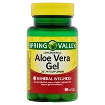Spring Valley Aloe Vera Softgels 25mg 50 Softgels - $16.60