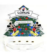 Mickey Mouse Christmas Watch Counter Top Display, Truly HTF Collectible ... - $34.50