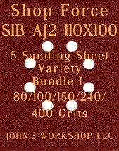 Shop Force S1B-AJ2-110X100 - 80/100/150/240/400 Grit - 5 Sandpaper Varie... - $7.92
