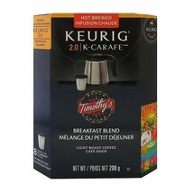 48 Timothys Breakfast Blend K-Carafe Packs For Keurig 2.0 **Past Best by date** - $148.49