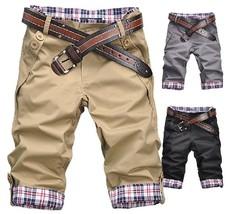 Good quality 2018 summer hot sale two buckle pocket fashion slim men's shorts ca - $29.58