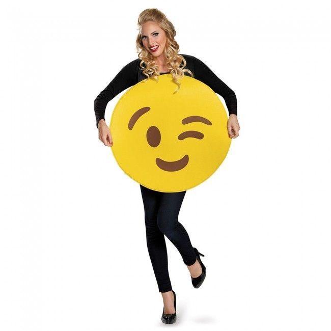 Disguise Clin D'Oeil Visage Emoji Émoticône Toqué Unisexe Adulte