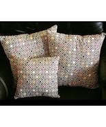New Decorative Throw Pillows Home Decor Sale Set of Three Colorful Honey... - $27.00