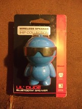 """RARE Lil Dude 3"""" Blue Cool IHIP Collection Portable Bluetooth Wireless S... - $22.56"""