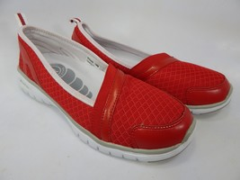 Propet Travellite Size 7 M (B) EU 37 Women's Slip-On Walking Shoes Red W3248