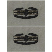 ARMY EMBROIDERED BADGE: COMBAT ACTION EMBROIDERED WITH BLACK THREAD ON ABU - $13.84