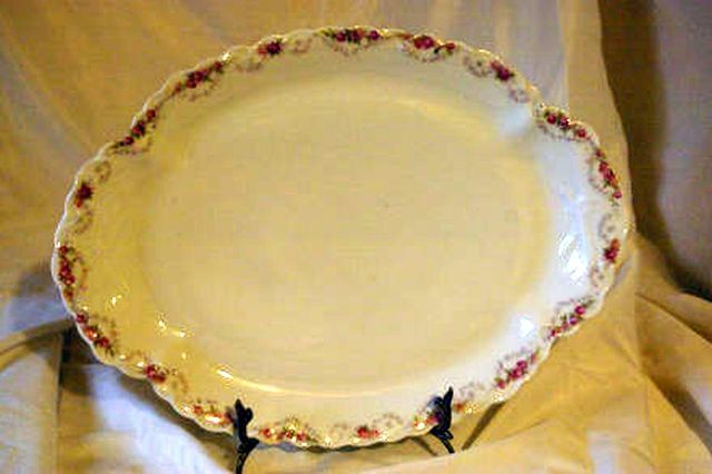 Primary image for B. Thomas Rex Antique Circa 1890 Oval Meat Platter 18 1/2""