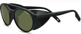 Serengeti LEANDRO GLACIER Satin Black / Polarized 555nm Green Sunglasses 8585 - $244.02