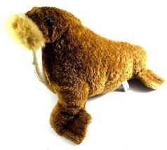 "Sea World Brown WALRUS with Tusks 12"" Doll Plush Stuffed Animal Souvenir  - $14.84"
